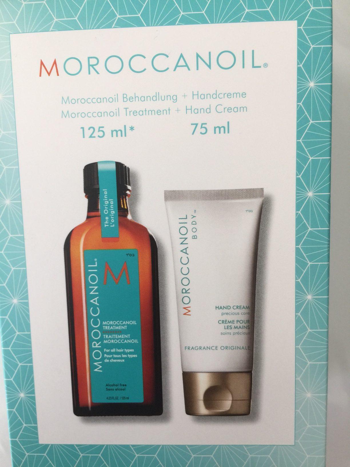 Moroccanoil Öl 125ml + gratis Handcreme