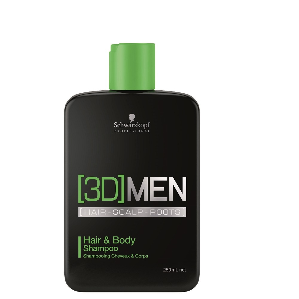 Schwarzkopf 3D Men Hair & Body Shampoo 250ml