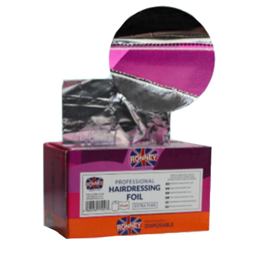 Ronney Professional Hairdressing Foil in box 14 microns
